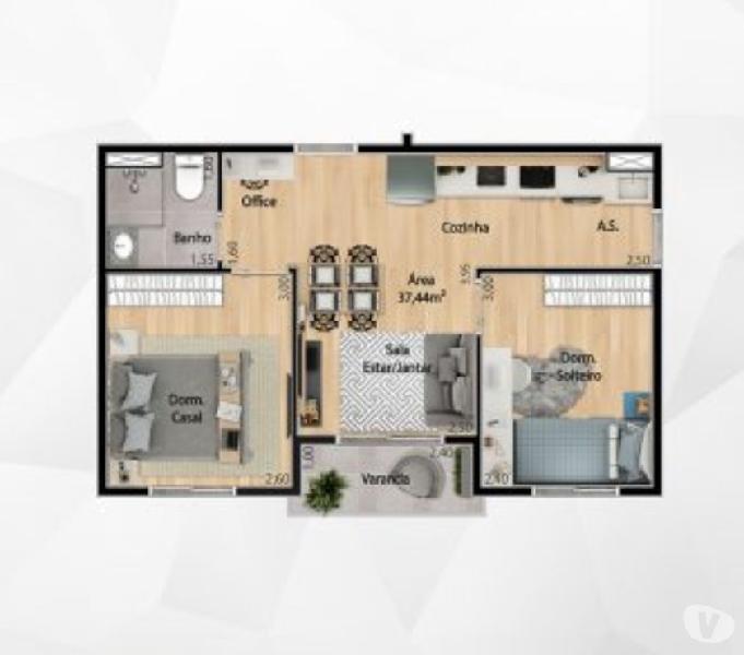 Apartamentos Próximo a Estação Dom Bosco 2 Dormitórios