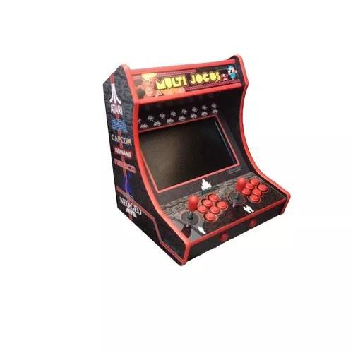Bartop Mini Arcade Com 7400 Jogos, Retro Especial 2 Jogadors