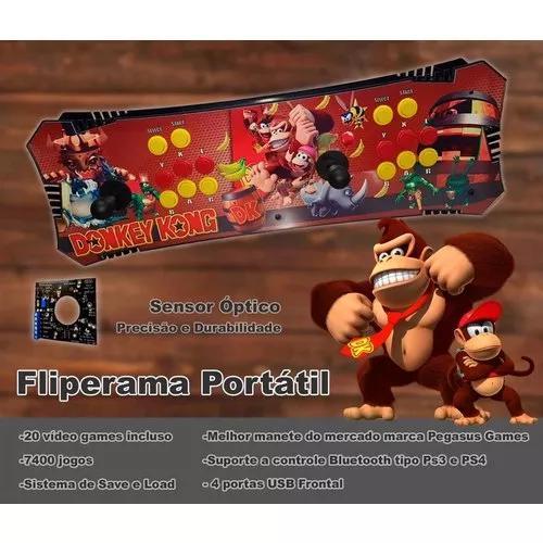 Fliperama Portátil 8500 Jogos, Sensor Óptico Pegasus,