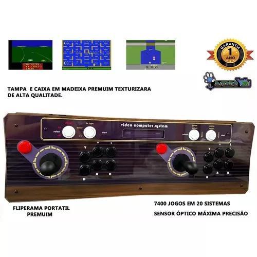 Fliperama Portátil Atari 7400 Jogos, Sensor Óptico Pegasus