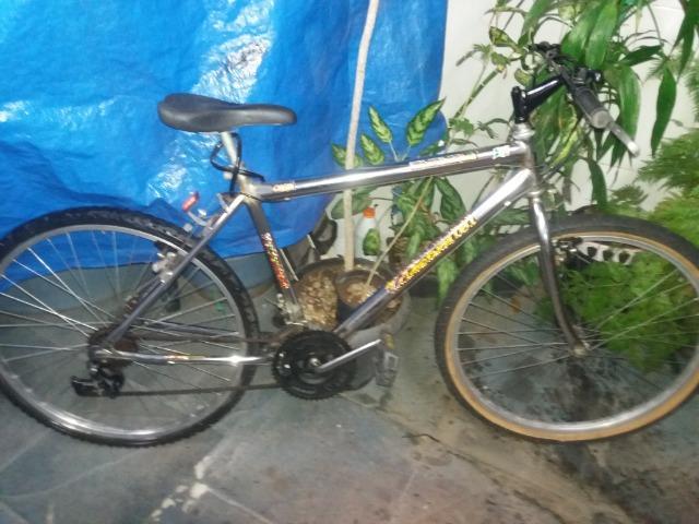 Bike aro 26 Cromada 18 Marchas Aceito Cartão