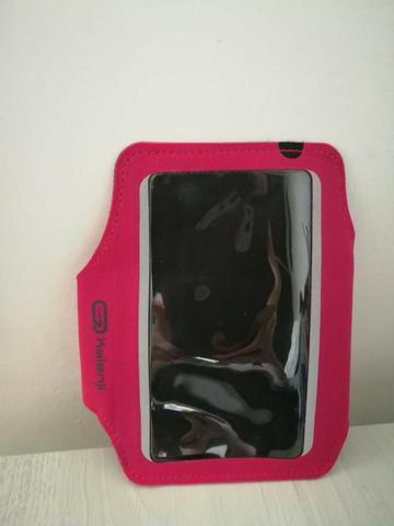 Bracelete porta celular para corrida rosa