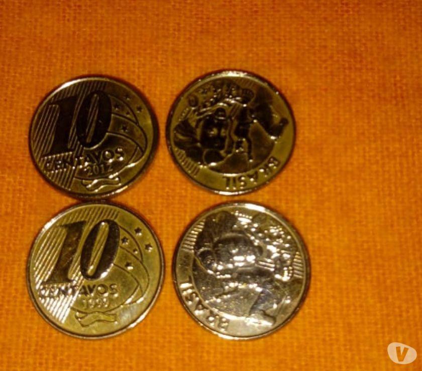 Rara Moeda de 10 Centavos do ano  com Reverso Invertido