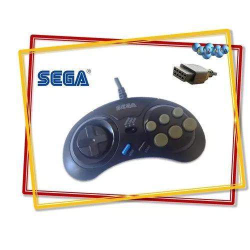 Controle Mega Drive Turbo 1 2 E 3 Novo Com Logo Da Sega
