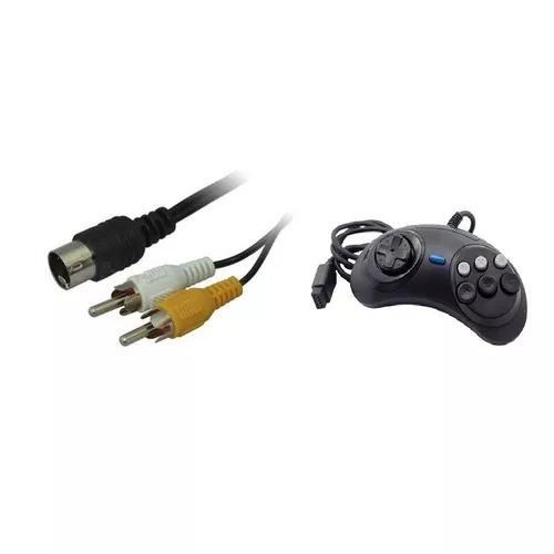 Kit 1 Controle Mega Drive 1,2 E 3 Mais 1 Cabo Av Mega 3