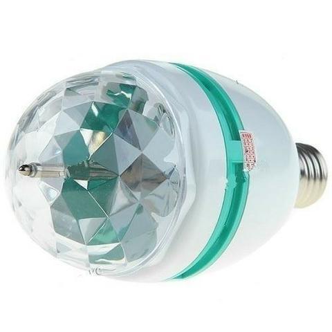 Lâmpada De Led Colorido Jogo de Luz Rotativa Giratória