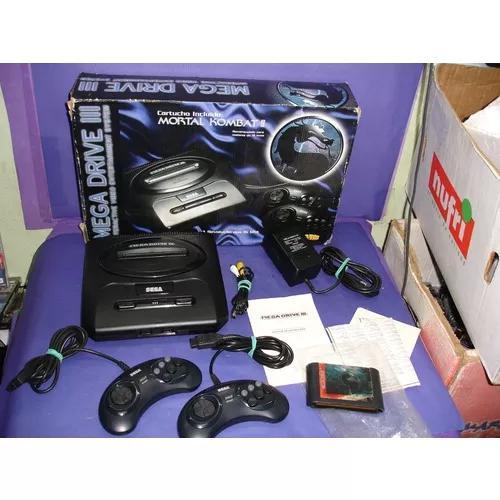 Mega Drive 3 Mortal Kombat 2 Edition Na Caixa Com Manual