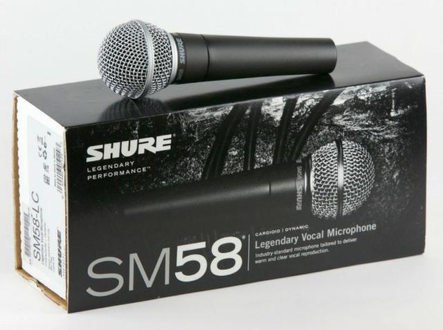 Microfone Profissional Com Cabo SM-58