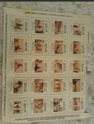 """20 selos de edição limitada: Série """"Brasil Pitoresco """""""