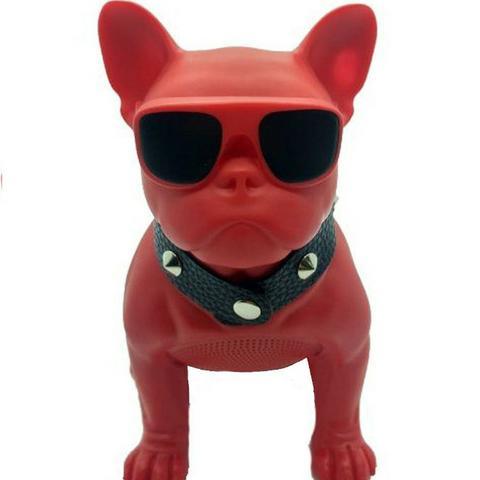 Caixa de Som Cachorro Buldogue Bivolt com Conexão Bluetooth