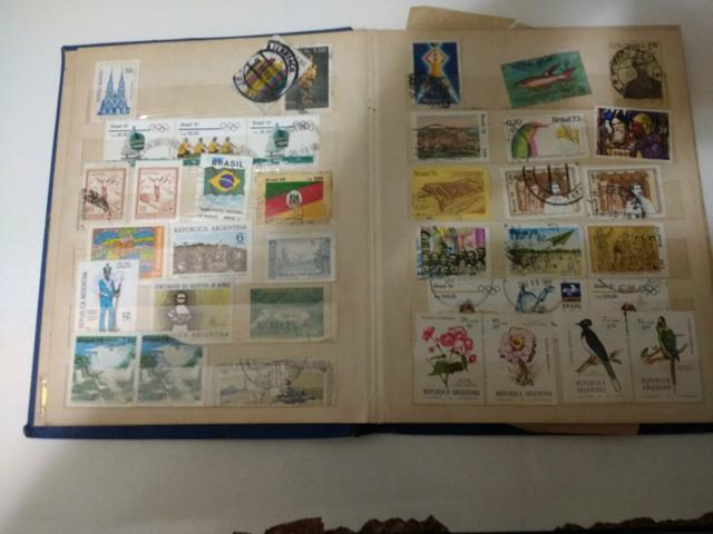Coleção de selos antigo