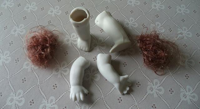 Kit Para Boneca De Porcelana, Peças Para Artesanato