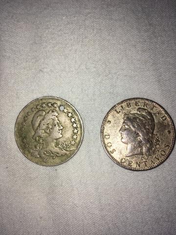 Lote de moedas antigas época do Império