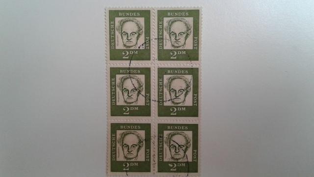 Lote de sextilha de selo da Alemanha da série