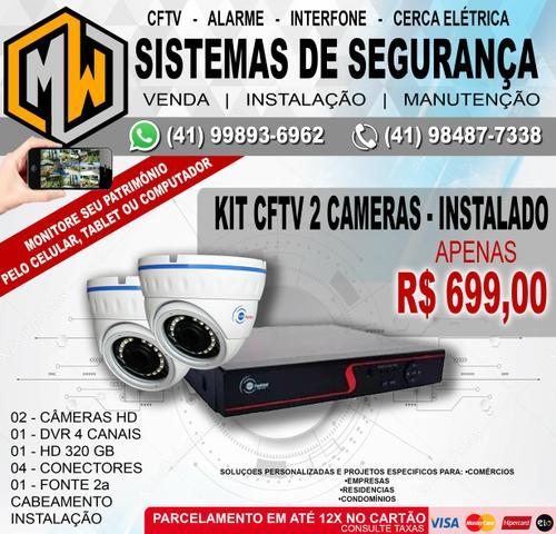 Kit CFTV 2 câmeras - Instalado