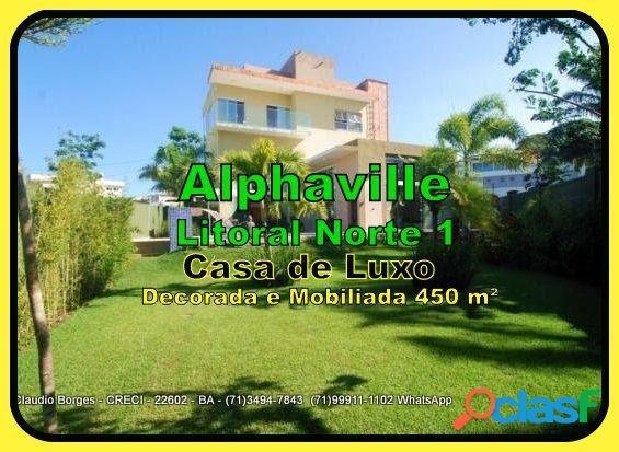Alphaville Litoral Norte 1 - Casa em Condomínio a Venda no