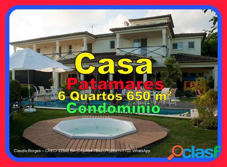 Casa em Condomínio a Venda no bairro Patamares - Salvador,