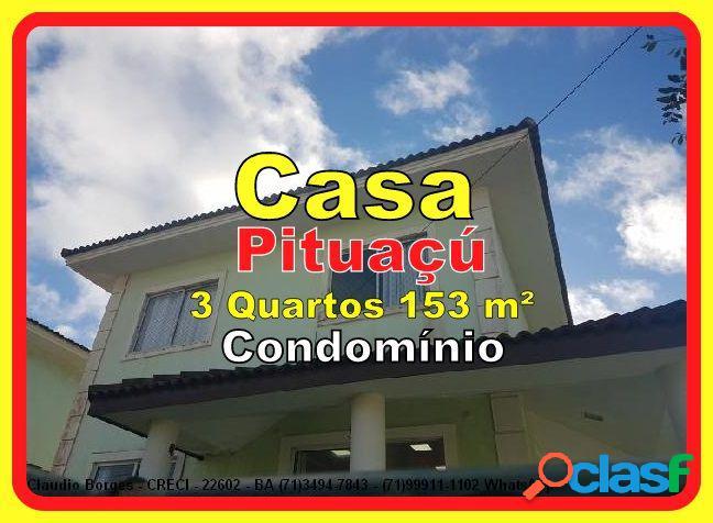 Casa em Condomínio a Venda no bairro Pituaçu - Salvador,