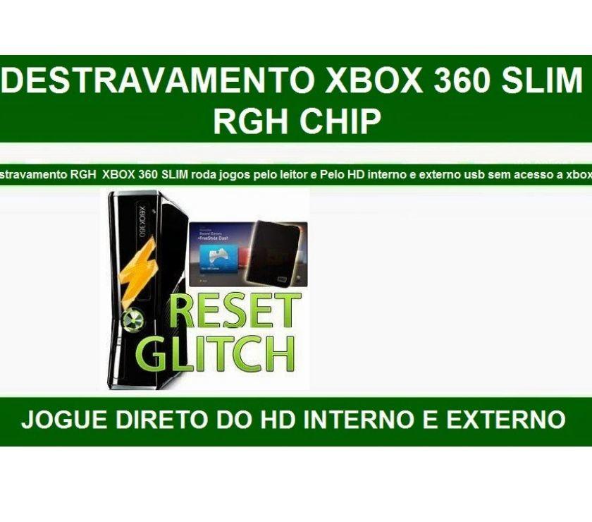 Xbox 360 SLIM DESTRAVA RGH COM 06 JOGOS, ACEITO PLAY 2 SLIM