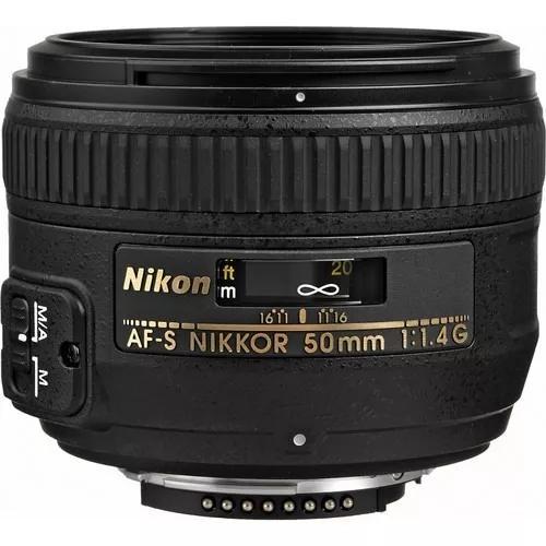Lente Nikon 50mm F/1.4g Af-s Garantia 1 Ano Garantia 1 Ano