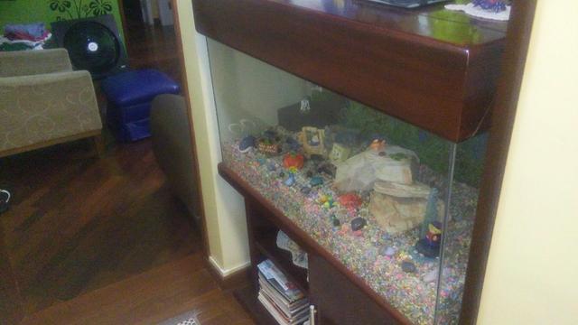 Vendo aquário de 200 litros para peixes com móvel de