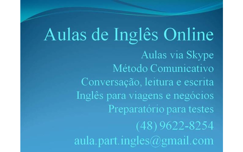 Aulas Particulares de Inglês Online para todo o Brasil