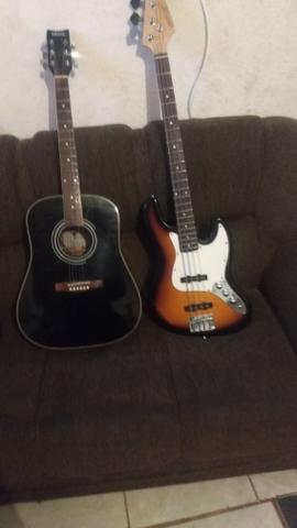 Contra baixo e violão