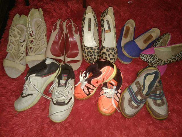 Vendo todos esses pares de sapatos