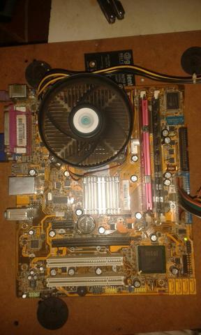 Kit placa ddr2 dual core
