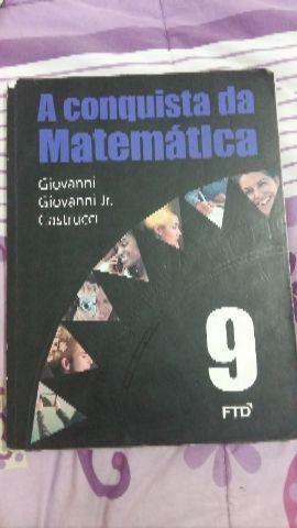 """Livro didático""""a conquista da matemática """"9°ano"""