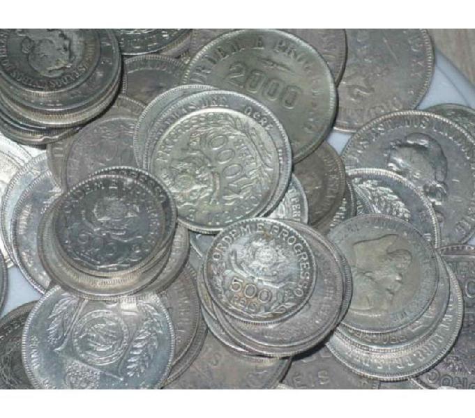 Compro moedas antigas Prata de 1849 a 1913 Pago R$1.000 Kg