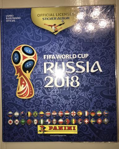 Figurinhas Álbum Copa do Mundo Rússia