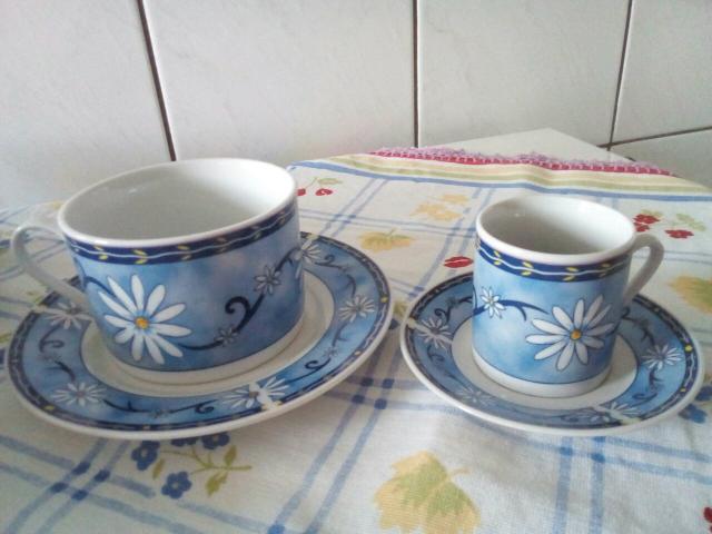 Jogo de xícaras Chá e Café Porcelana