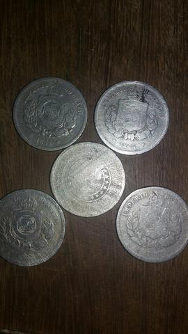 Lote 5 moedas de reis antiga e raras