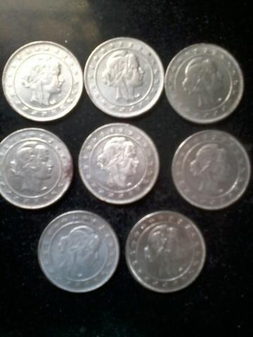 Lote com 6 moedas réis
