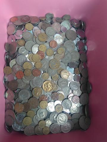 Lote com  moedas antigas