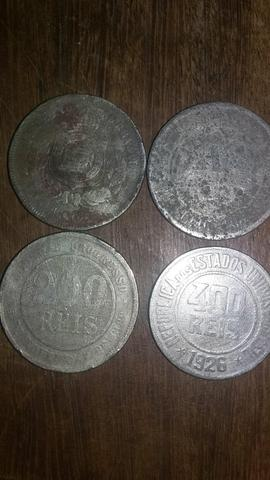 Lote de 4 moedas raras data escassa