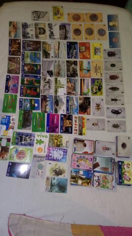 reais coleção de 600 cartões telefónicos