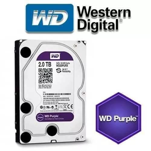 Hd 2tb Purple Wd Wd20purx Original Com Nota Fiscal