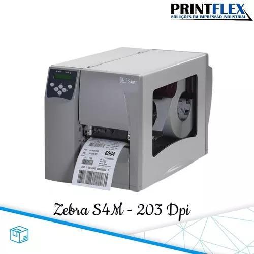 Impressora S4m 203 Dpi, Revisada, Cabeça De Impressão Nova