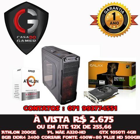 PC Gamer AMD Atlhon 200GE Gtx TI 4GB Fonte 400w +80Plus