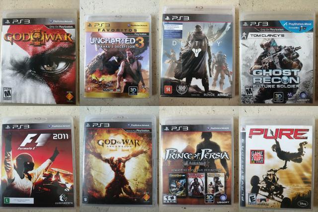 PS3 super slim com 14 jogos (mídia física) + 1 jogo no HD