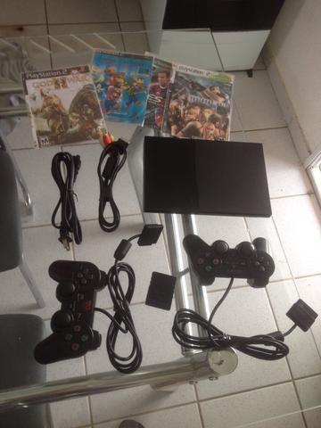 Playstation 2 (PS2) Slim, Destravado, Completo, Bem