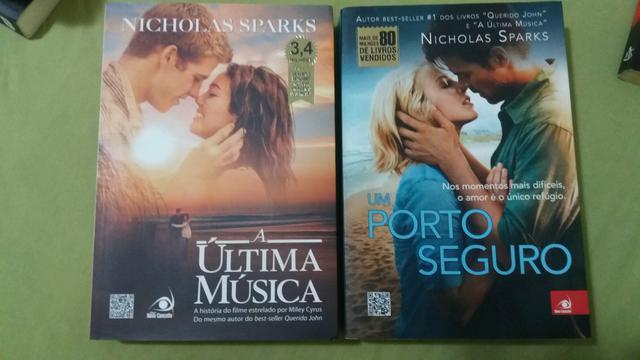 Livros Um porto seguro + A última música (Nicholas Sparks)