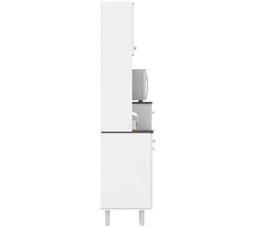Semi novo Armario de Cozinha 6 portas 2 GV Branco e Preto