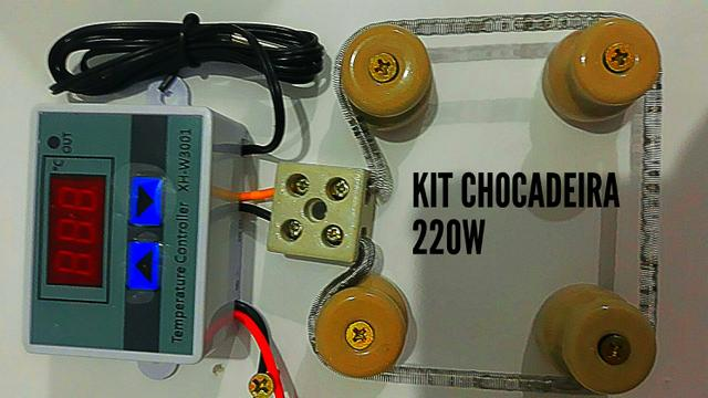 Kit para chocadeira 220V termostato resistência