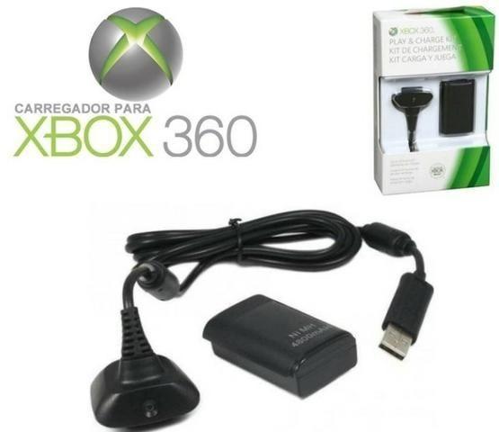 Bateria extra com carregador para controle de Xbox 360