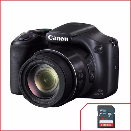 Camera Canon Powershot Sx530 Hs + Cartão 16gb Classe 10