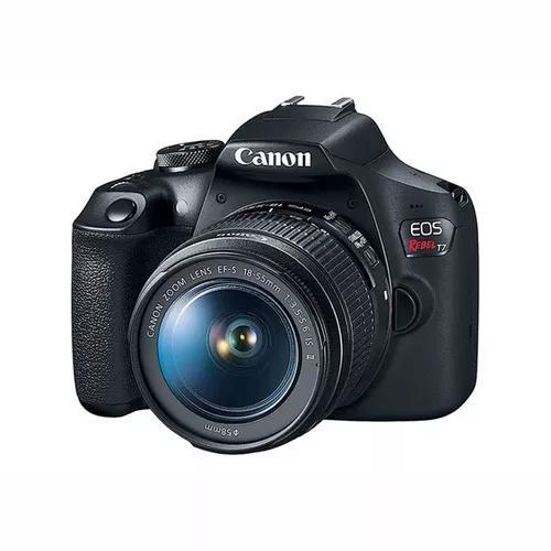 Câmera Canon Eos Rebel T7 18-55mm F/3.5-6.3 Is Il C/ Nfe