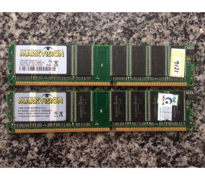 Kit Com Fonte Dell D Computador e Duas Memórias DDR 1GB
